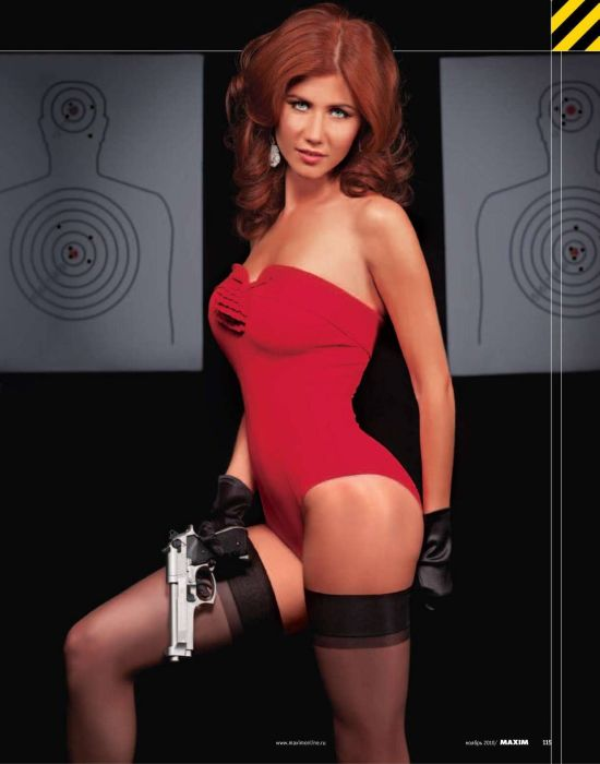 anna chapman maxim 7 Anna Chapman Does Sexy Spy For Russian Lads Mag (Photos)