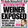 thumbs 0616 anthony weiner post headlines 01 Anthony Weiner penis pictures: are these the wannabe New York mayors audition photos?