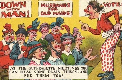suffrage 9 Pathetic and women hating postcards of the anti Suffragette movement