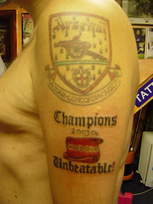 arsenal tattoo 4 Arsenal tattoos the best and worst
