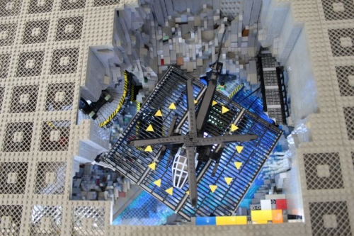 bat cave lego 1 The 20,000 Lego brick Batcave (photos)