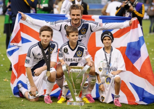 15284441 David Beckham and family win Major League Soccer Cup Final (photos)