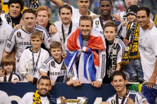 15284478 David Beckham and family win Major League Soccer Cup Final (photos)