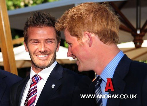 9051755 In Pictures: David Beckham, Prince William And Prince Harrys Blind Date