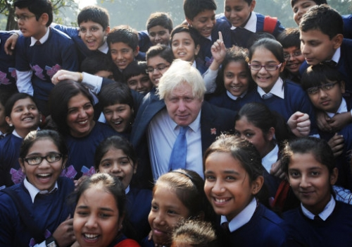 15216007 In photos: Boris Johnson visits India