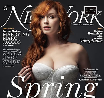 christina hendricks Christina Hendricks for New York Magazine: Pictures