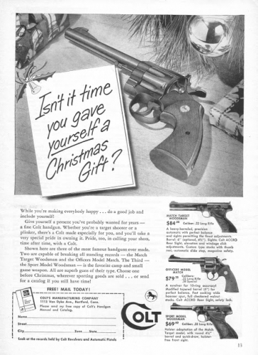 colt gun xmas2 Epic vintage sexist Christmas adverts