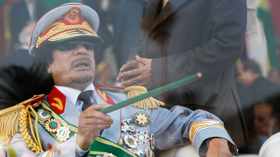 colonel gaddafi Gaddafi Knocked Out For Airborne Face Lift Flight To Venezuela
