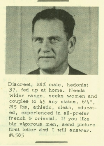 men of the 60s 11 Dating profiles from the 1960s