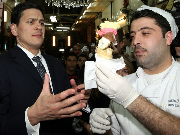 miliband cream Ed Miliband Steals David Milibands Ice Cream: A Gallery Of Extempore Eating