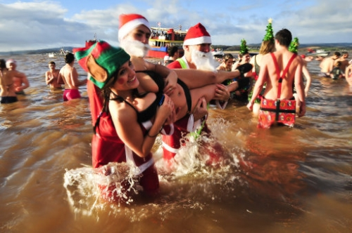 15427196 Christmas Day swim photos: Exmouth, Sandycove and the Serpentine