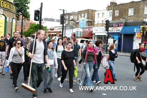 11363606 Londons Broom Revolution Erupts In Clapham: After Riot Party Photos