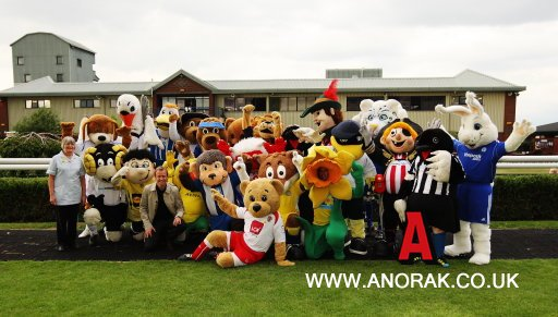 9266616 The Daffodil Derby Football Mascot Race In Pictures