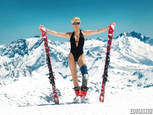 Bikini skiing pictures interesting