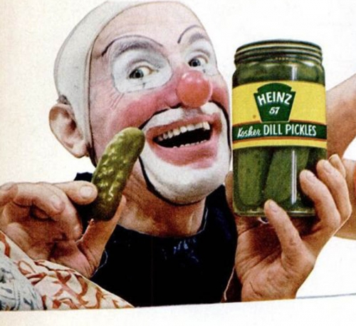 clown pickles 2 In the 1950s Heinz thought clowns would make pickles fun   they didnt (photos)