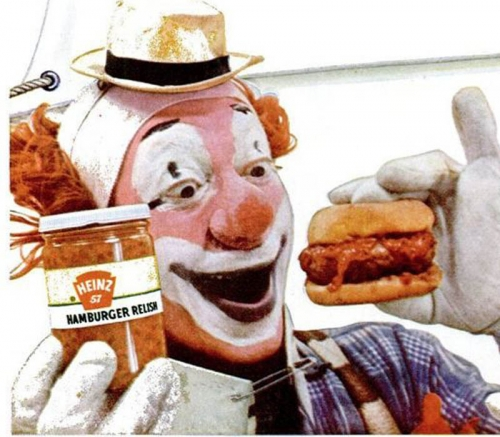clown pickles 3 In the 1950s Heinz thought clowns would make pickles fun   they didnt (photos)