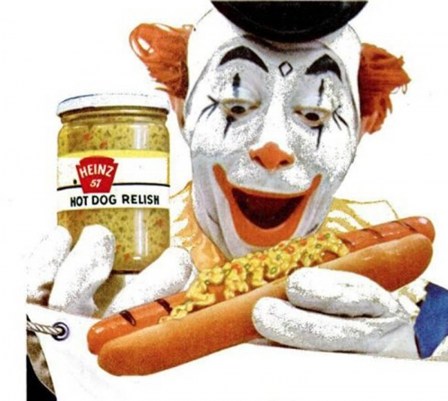 clown pickles 5 In the 1950s Heinz thought clowns would make pickles fun   they didnt (photos)