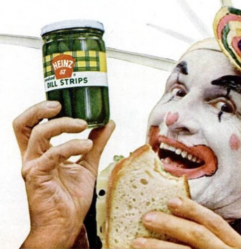 clown pickles In the 1950s Heinz thought clowns would make pickles fun   they didnt (photos)