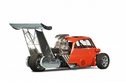 bubble racing Car of the day: 1959 BMW Isetta Whatta Drag with 730 hp Chevrolet V8 engine   photos