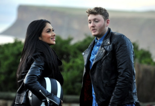 15306324 X Factor photos: James Arthur takes Nicole Scherzinger to Saltburn by the Sea