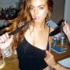 thumbs lindsay lohan knife 2 Lindsay Lohan: Did God Steal The Bracelet?