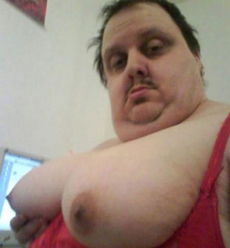 fat guy with man boobs