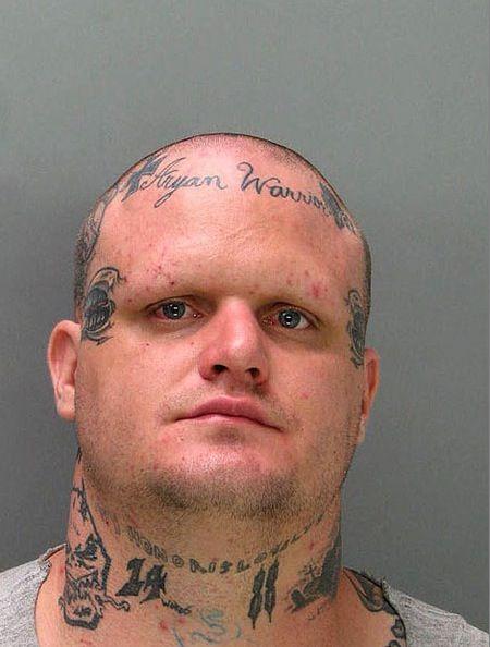 mugshots tattoo 27 The Greatest Tattooed Mugshots Ever