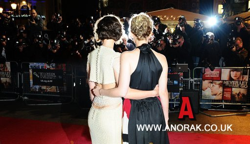 Keira Knightley (left) and