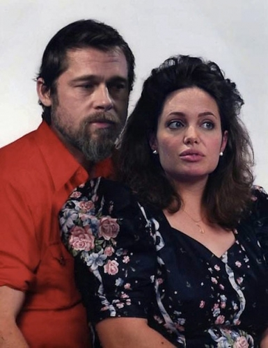 brad and ange Celebrities made to look normal