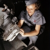 thumbs war 11 World War 2: The Office of War Informations pictures of women working on aircraft