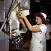 thumbs war 8 World War 2: The Office of War Informations pictures of women working on aircraft