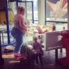 thumbs mcdonalds parents Behold! The Irishman stuck in a baby seat in McDonalds!