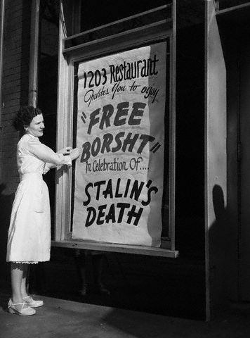 stalin death Retro Photos Of The Day: Free Borsht With Stalins Death