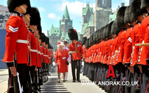9120162 The Queen, The Duke And The Canada Dancing Girls   In Pictures