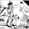 thumbs queen indy peter phew 60 years of the Queen in cartoons: Diamond Jubilee satire