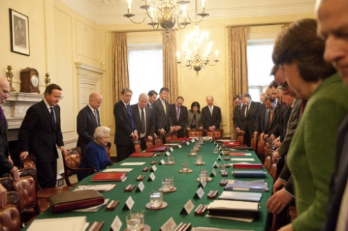 15402945 Her Majesty the Queen attends a Cabinet meeting at Number 10 Downing Street   in photos