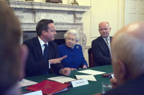 15402949 Her Majesty the Queen attends a Cabinet meeting at Number 10 Downing Street   in photos