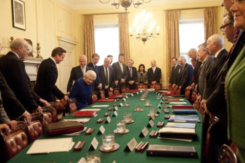 15402951 Her Majesty the Queen attends a Cabinet meeting at Number 10 Downing Street   in photos
