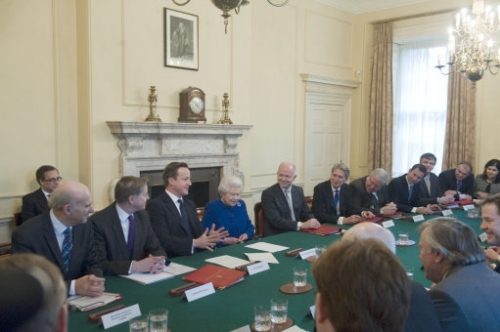 15402952 Her Majesty the Queen attends a Cabinet meeting at Number 10 Downing Street   in photos