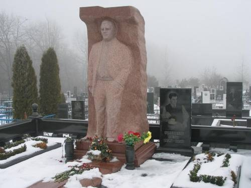 russian grave Russian gravestones are larger than life