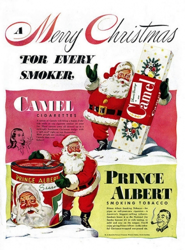 santa fags 13 Santa Claus sold cigarettes for Christmas