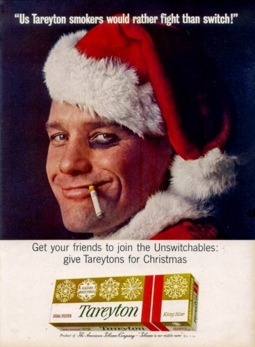 santa fags 2 Santa Claus sold cigarettes for Christmas