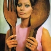 thumbs sophia loren 1 1971: Sophia Loren says Eat With Me (and my giant wooden cutlery ears)