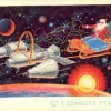 thumbs santa space Christmas Cards from the Soviet Union space race