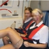 thumbs british airways Air stewardesses behaving badly