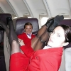 thumbs stewardesses 1 Air stewardesses behaving badly
