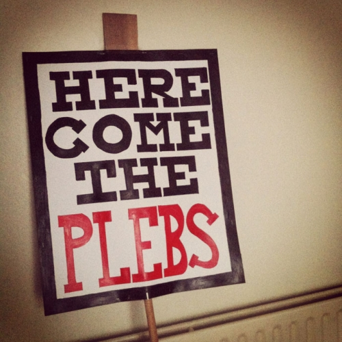 tuc placard plebs The best placards from the TUC anti austerity march