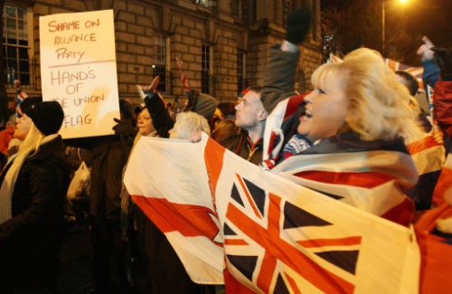 15300752 The Belfast City Hall Flag Riot: Photos of Prince Edwards most meaningful moment