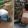 thumbs walmart sex 33 Walmart thieves hide booty in tolls of fat