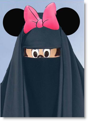 Iranian Disneyland Opens Muslim-minnie-mouse